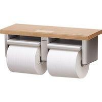 棚付き2連紙巻器(ホルダー:ホワイト色)